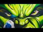 Zdesroy - Hulk Graffiti GYM,Nonprofit,,Example of the wall in the gym. Пример оформления стены в спортзале. Сайт:  http://zdesroy.com Подпишись на нас вконтакте:  https://vk.com/streetart_zdesroy