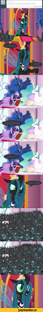 W6LLP ISN'T S0M60N6 SOINS TO SAY SOM6THINS? shymori asked Why do they need your help? Did soemthing happend to Chrysalis'? ASKFLUFFLEPUFF .T UMBLP^CO. F.TUM,