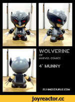"WOLVERINE OF MARVEL COMICS 4"" MUNNY FLYINGSCIURUS.COM"
