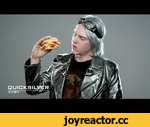 Quicksilver & The X-tra Bacon, Egg, & Cheese Biscuit,Entertainment,,Take your time with Quicksilver and the X-tra Bacon, Egg, & Cheese Biscuit, a Made from Scratch Biscuit piled high with Egg, American Cheese, and double the Bacon! Available only at Carl's Jr. See X-Men: Days of Future Past in a