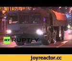 Russia: Missiles and APCs on the move ahead of Victory Day,Autos,,Video ID 20140419-002  M/S Vehicles W/S APC M/S Topol-M W/S Topol-M M/S Trucks M/S Missile M/S BTR-class armoured personnel carriers W/S Women watching the display C/U Wheels M/S Transportation and loading vehicle (TLV) (9T250) for