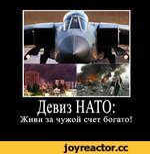 Девиз НАТО: Живи за чужой счет богато!