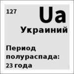 12 Ua Украиний Период полураспада: 23 года