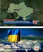 Donotsk Luhansk DEVELOPING STORY REFERENDUM IN EASTERN UKRAINE Pro-Russia separatists deny voter fraud allegations ✓ rw ^ EASTERN UKRAINE REFERENDUM
