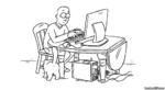кот мешает сидеть за компьютером