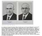 Андропов Ю. В., портреты 1981 и 1983 годов ЮрИ* Кшимирчи« АНДРОПОВ МИРОНОВ Это скорее для умственной викторины. Здесь вы видите один и тот же портрет Андропова, но один из них был выполнен во времена, когда Андропов был председателем КГБ и членом Политбюро, а на другом портрете изображен уже Ан