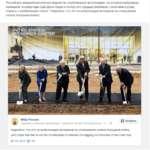 """Российское внешнеполитическое ведомство опубликовало фотографию, на которой изображены нынешний госсекретарь США Джон Керри и пятеро его предшественников с лопатами в руках, подпись к изображению гласит: """"Надеемся, что это не мобилизация ветеранов на откапывание окопов Холодной войны"""". U* *• -ТА-"""