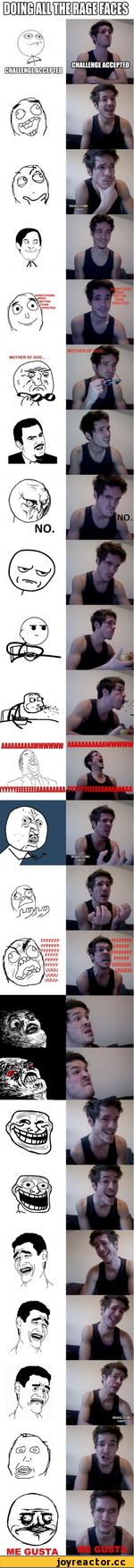 Doing all the rage faces