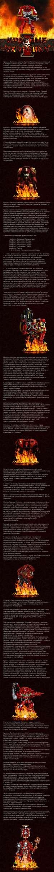 Красные Охотники - капитул Адептус Астартес, сильно связанный с Имперской Инквизицией. Они, в основном, выступают в роли элитных вспомогательных боевых единиц в операциях, санкционированных высшими эшелонами Инквизиции, за эту уникальную роль им было дано право носить символ Инквизиции на своей бро