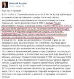 Николай Азаров 13 hrs Edited & Еще раз о тарифах. В 2011-2013 гг. Украина платила за газ по S 480 за тысячу кубометров и правительство не повышало тарифы, поскольку считало несправедливым перекладывать на плечи населения просчеты Тимошенко, заключившей контракт в 2009 г. Сейчас Россия предоставл