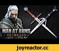 Witcher 3: Silver & Steel Swords - MAN AT ARMS: REFORGED,Science & Technology,The Witcher 2: Assassins Of Kings (Video Game),Action Role-playing Game (Video Game Genre),The Witcher 3: Wild Hunt (Video Game),Wild Hunt,Swords from Witcher,Video Game swords,how to make a sword from a video game,CD