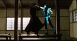 Герой из матрицы дерёться с героем из Мортал Комбат