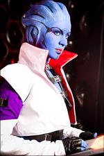 Косплей Арии Т'Лоак из Mass Effect 2 by Елена Куранова из косплеерской группы Love Squad