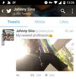 ё At Я7Oorfii 13:26 ^ ^ Johnny SinsQ> i 6,965 Tweets TweetsMediaLikes Johnny Sins @JohnnySins My newest profession^ 4-* t* 249 V 335