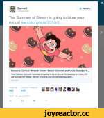 Burnett ©mcbumett Читать The Summer of Steven is going to blow your minds! ew.com/article/2016/0... Exclusive: Cartoon Network renews 'Steven Universe' and 'Uncle Grandpa' th. Two Cartoon Network favorites are going to be on the air for seasons to come, EW can exclusively reveal. Steven Univer