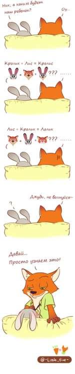 Ник, Л каким будет Кролик + Лис = Кролис W V Лис + Кролик = Лолик Длбаи... Просто узнаем это!