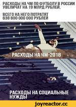РАСХОДЫ НА ЧМ ПО ФУТБОЛУ В РОССИИ УВЕЛИЧАТ НА 19 МЛРД РУБЛЕЙ. ВСЕГО НА НЕГО ПОТРАТЯТ 638 800 000 000 РУБЛЕЙ