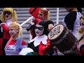 Косплей Харли Квин на комикконе в Сан-Диего,Entertainment,косплей,Харли Квин,cosplay,Harley Quinn,Один из самых популярных обраазов для косплей. Смотрите как делают косплей на Харли Квин на комикконе в Сан-Диего 2016.