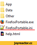 Data Other & FirefoxPortable.exe Lif FirefoxPortable.ini