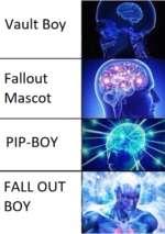 Vault Boy Fallout Mascot PIP-BOY FALLOUT BOY w' 1
