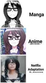 Manga Anime wait a second.... Netflix Adaptation Oh... no no no no no