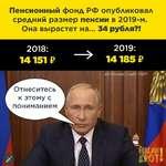 Пенсионный фонд РФ опубликовал средний размер пенсии в 2019-м. Она вырастет на... 34 рубля?!