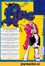 """C0SM/4REP0LIT/AN ISSUE #23 1. Va I1 KP mrn,s li V 'S, tí """" ï / \ s®* V y Té. /f 0/ Equestria Our majesty what Princess Luna ine's Mare of the Year! the night! Princess Luna's return rds the goddess of the time went on Luna has become very popular, sc Equestria's Mare Of"""