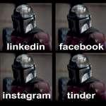 linkedin \ instagram face book tinder