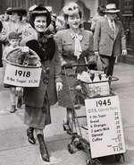 1945 OP. A. CiiuNcPRictt 5 lbs Sugar .32 Bread 09 6 Oranges .22 2 quarts Milk .29 Oatmeal .12 Coffee -27
