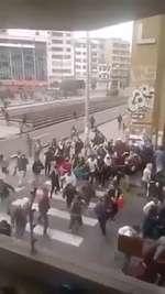 Horsemen on protest