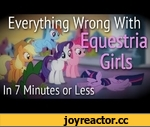 "(Parody) Everything Wrong With Equestria Girls in 7 Minutes or Less,Comedy,,This video is a parody of a series known as ""Cinema Sins"", I highly suggest you check them out! http://www.youtube.com/Cinemasins  Whew, this one was tough. Between watching the movie over and over, and the many technical"
