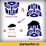 Autobots Logo , Beret T ^ Glasses Myth Busted! J