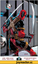 Deadpool TM and © 2010 Marvel Characters, Inc. a/corona FMCUOUZt? artist - adelso corona colorist - frank cuonzo exclusive limited edition print #____________/ 80
