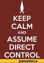 KEEP CALM AND ASSUME DIRECT CONTROL